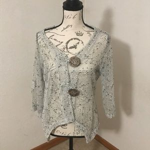 Cardigan with fancy buttons